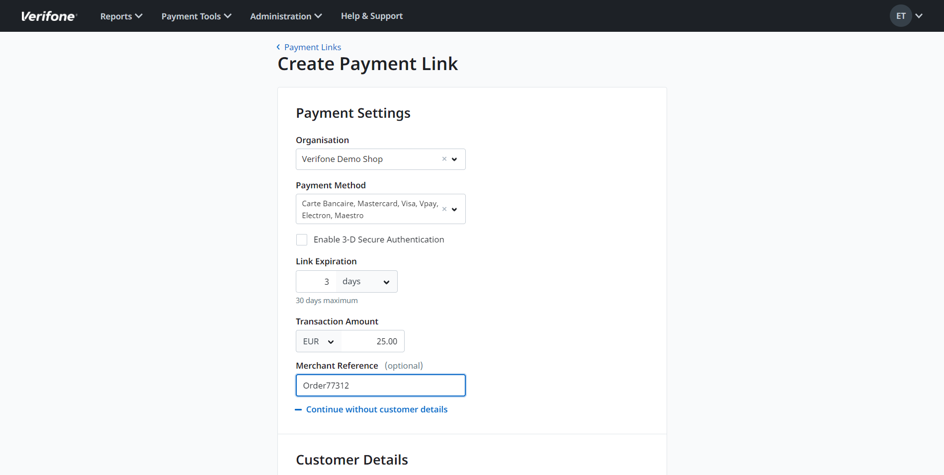 PaybyLink_Payment Settings